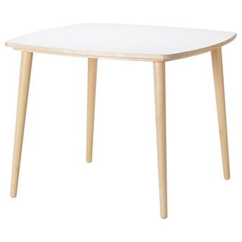 IKEA OMTÄNKSAM Stół, Biały/brzoza, 95x95 cm