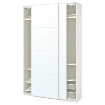 IKEA PAX / AULI Kombinacja szafy, biały/lustro, 150x44x236 cm
