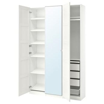 IKEA PAX / BERGSBO/VIKEDAL Kombinacja szafy, biały/lustro, 150x38x236 cm