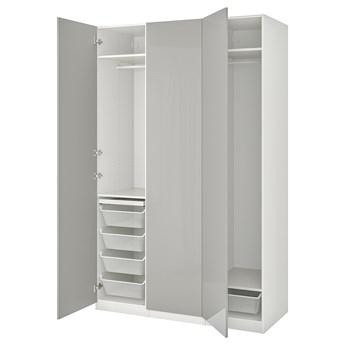 IKEA PAX / FARDAL Kombinacja szafy, biały/wysoki połysk jasnoszary, 150x60x236 cm