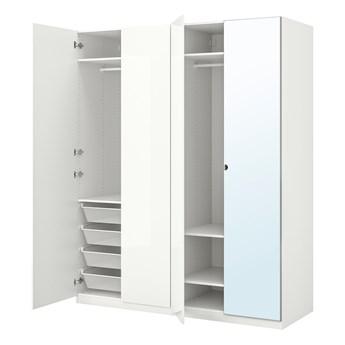 IKEA PAX / FARDAL/VIKEDAL Kombinacja szafy, połysk biały/lustro, 200x60x236 cm