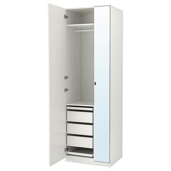 IKEA PAX / FORSAND/VIKEDAL Kombinacja szafy, biały/lustro, 75x60x236 cm