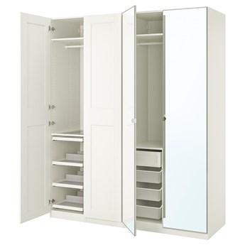 IKEA PAX / GRIMO/VIKEDAL Kombinacja szafy, biały/lustro, 200x60x236 cm
