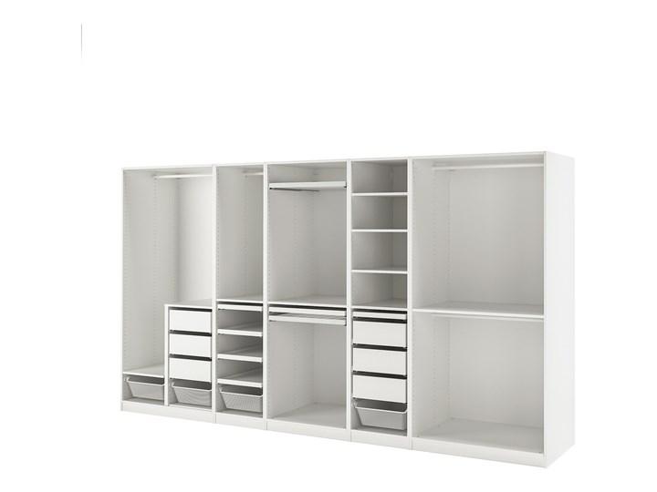IKEA PAX Kombinacja szafy, biały, 375x58x201 cm Stal Metal Ilość drzwi Bez drzwi