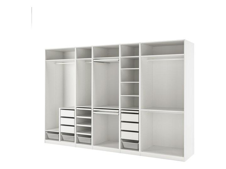 IKEA PAX Kombinacja szafy, biały, 375x58x236 cm Lustro Stal Metal Pomieszczenie Garderoba