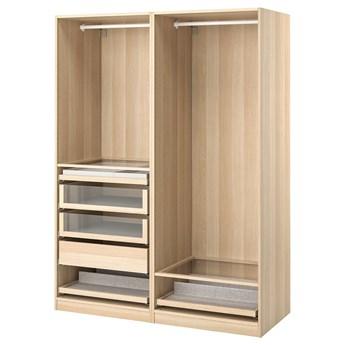 IKEA PAX Kombinacja szafy, dąb bejcowany na biało, 150x58x201 cm