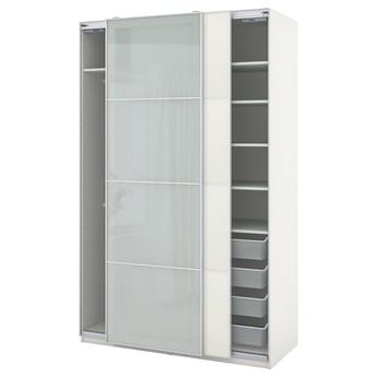IKEA PAX / MEHAMN/SEKKEN Kombinacja szafy, biały/szkło matowe, 150x66x236 cm