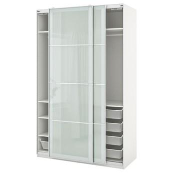 IKEA PAX / SEKKEN Kombinacja szafy, biały/szkło matowe, 150x66x236 cm
