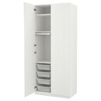 IKEA PAX / SLENESET Kombinacja szafy, biały/biały imitacja drewna, 100x60x236 cm