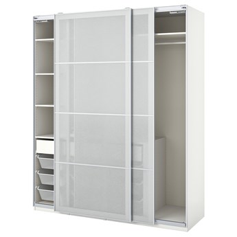 IKEA PAX / SVARTISDAL Kombinacja szafy, biały biały/imitacja papieru, 200x66x236 cm
