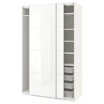IKEA PAX Szafa, biały/Färvik białe szkło, 150x66x236 cm