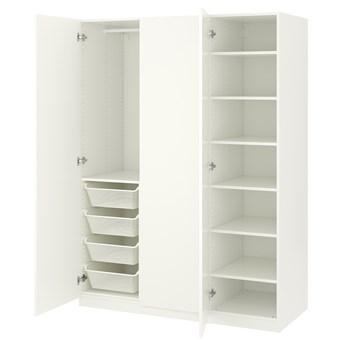 IKEA PAX Szafa, biały/Forsand biały, 150x60x201 cm