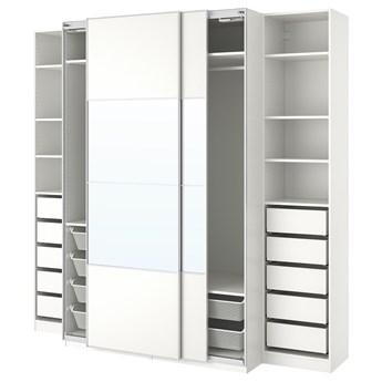 IKEA PAX Szafa, biały/Mehamn Auli, 250x66x236 cm