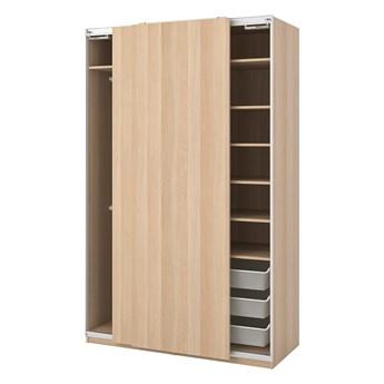 IKEA PAX Szafa, Hasvik/dąb bejcowany na biało, 150x66x236 cm