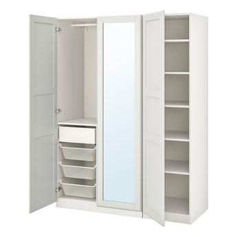 IKEA PAX / TYSSEDAL Kombinacja szafy, biały/lustro, 150x60x201 cm