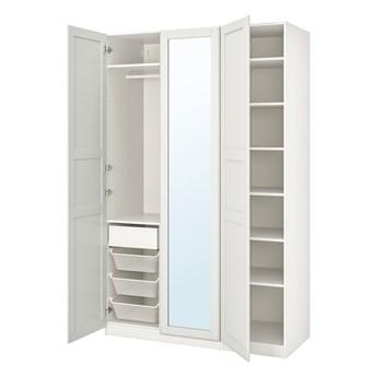 IKEA PAX / TYSSEDAL Kombinacja szafy, biały/lustro, 150x60x236 cm