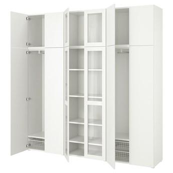 IKEA PLATSA Kombinacja szafek 12 drzwi, biały/Fonnes Värd, 240x42x241 cm