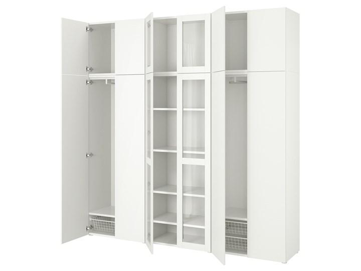 PLATSA Kombinacja szafek 12 drzwi Kategoria Zestawy mebli do sypialni Kolor Biały