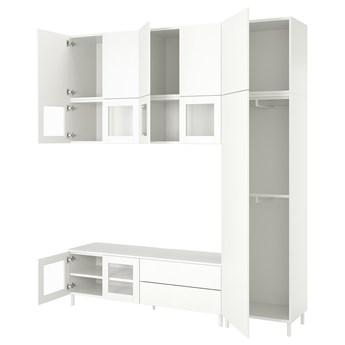 IKEA PLATSA Kombinacja TV/szafki 12 drz/2 szuf, biały/Fonnes Värd, 220x42x251 cm