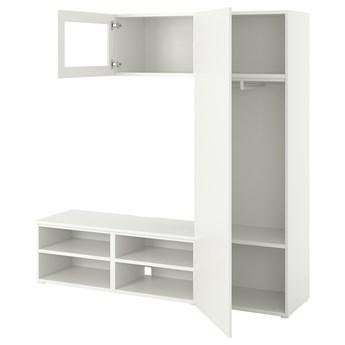 IKEA PLATSA Kombinacja TV/szafki 2 szuflady, biały/Fonnes Värd, 180x42x191 cm
