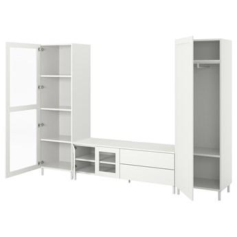IKEA PLATSA Kombinacja TV/szafki 4 drzwi+2 szu, biały/Fonnes Värd, 280x42x191 cm