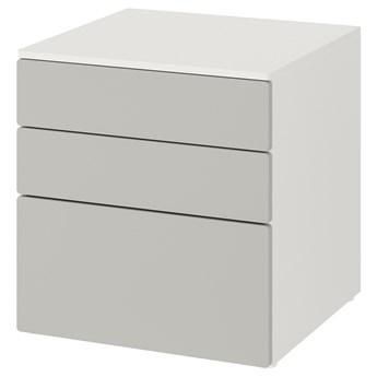 IKEA SMÅSTAD / PLATSA Komoda, 3 szuflady, Biały/szary, 60x57x63 cm