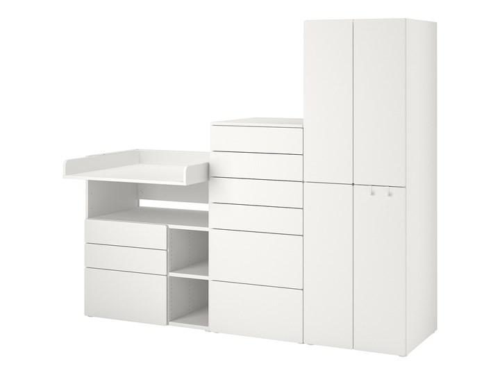 IKEA SMÅSTAD / PLATSA Regał, Biały biały/ze stołem do przewijania, 210x79x181 cm