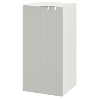 IKEA SMÅSTAD / PLATSA Szafa, Biały/szary, 60x57x123 cm
