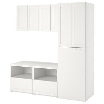 IKEA SMÅSTAD Regał, Biały biała rama/z wysuwaniem, 180x57x196 cm