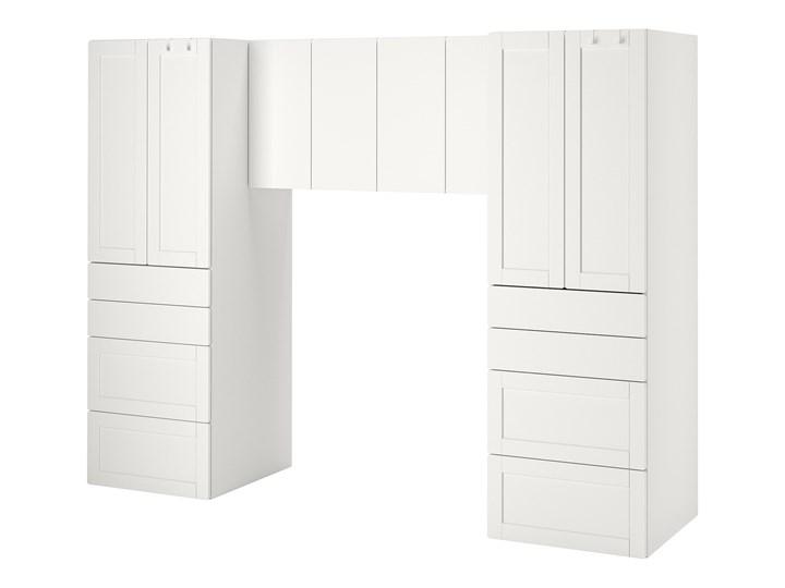 IKEA SMÅSTAD Regał, Biały/biała rama, 240x57x181 cm
