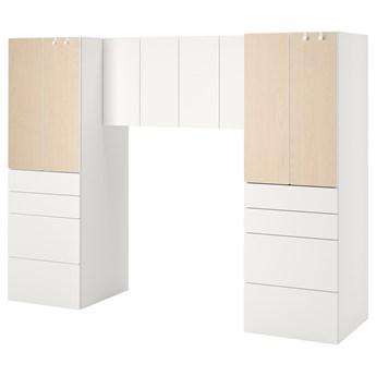 IKEA SMÅSTAD Regał, Biały/brzoza, 240x57x181 cm
