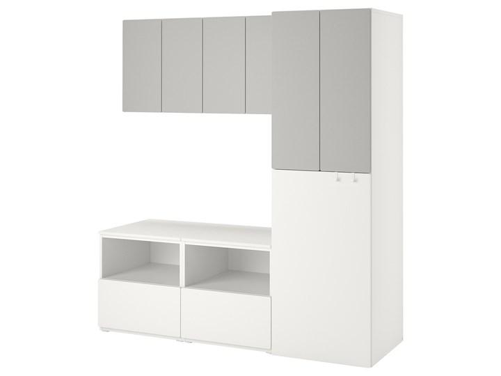 IKEA SMÅSTAD Regał, Biały szary/z wysuwaniem, 180x57x196 cm Kategoria Zestawy mebli do sypialni