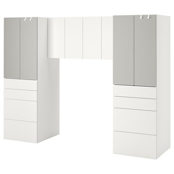 IKEA SMÅSTAD Regał, Biały/szary, 240x57x181 cm