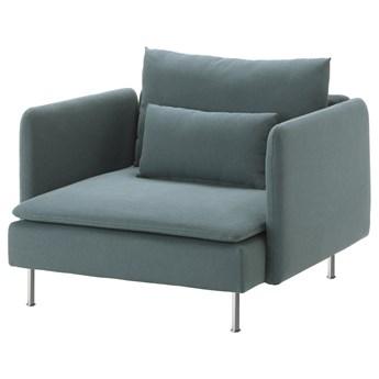 IKEA SÖDERHAMN Fotel, Finnsta turkusowy, Szerokość: 105 cm