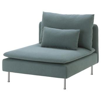 IKEA SÖDERHAMN Sekcja 1-osobowa, Finnsta turkusowy, Szerokość: 93 cm