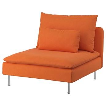 IKEA SÖDERHAMN Sekcja 1-osobowa, Samsta pomarańczowy, Szerokość: 93 cm