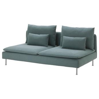 IKEA SÖDERHAMN Sekcja 3-osobowa, Finnsta turkusowy, Szerokość: 186 cm