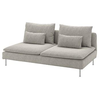 IKEA SÖDERHAMN Sekcja 3-osobowa, Viarp beż/brąz, Szerokość: 186 cm