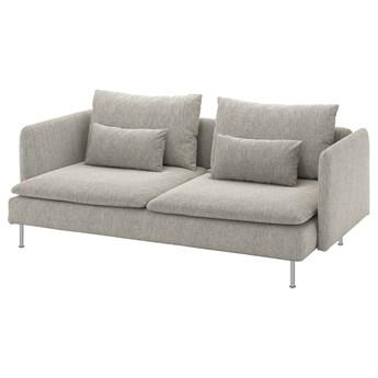 IKEA SÖDERHAMN Sofa 3-osobowa, Viarp beż/brąz, Wysokość z poduchami oparcia: 83 cm