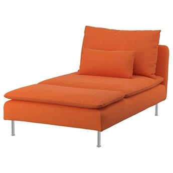 IKEA SÖDERHAMN Szezlong, Samsta pomarańczowy, Szerokość: 93 cm