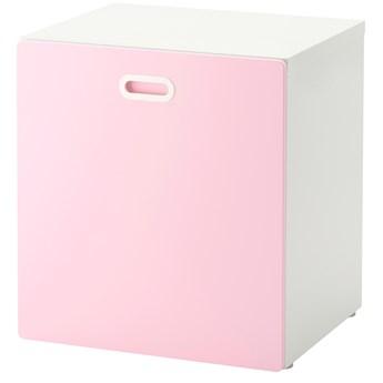 IKEA STUVA / FRITIDS Pojemnik na zabawki, na kółkach, Biały/jasnoróżowy, 60x50x64 cm