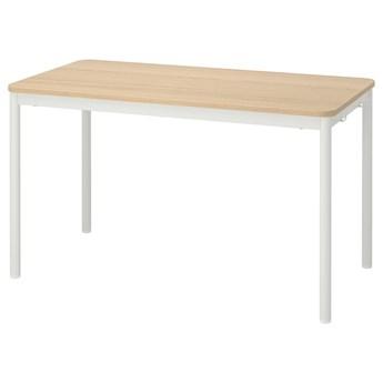 IKEA TOMMARYD Stół, Okleina dębowa bejcowana na biało/biały, 130x70 cm
