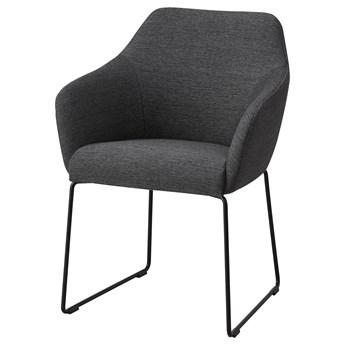IKEA TOSSBERG Krzesło, metal czarny/szary, Przetestowano dla: 100 kg