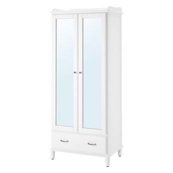 IKEA TYSSEDAL Szafa, biały/lustro, 88x58x208 cm