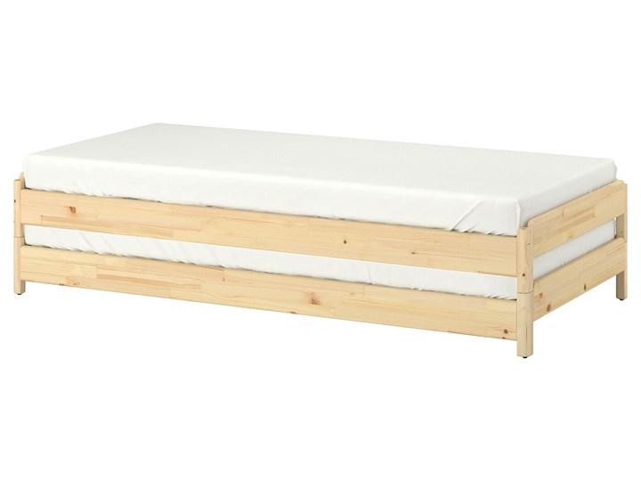 IKEA UTÅKER Łóżko sztaplowane, sosna, 80x200 cm Podwójne Drewno Kategoria Łóżka dla dzieci