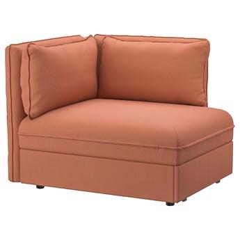 IKEA VALLENTUNA Moduł sofy rozkładanej z oparciem, Kelinge rdzawy, Szerokość: 113 cm