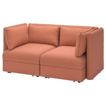 IKEA VALLENTUNA Rozkładana sofa modułowa, 2-osobowa, Kelinge rdzawy, Szerokość: 186 cm
