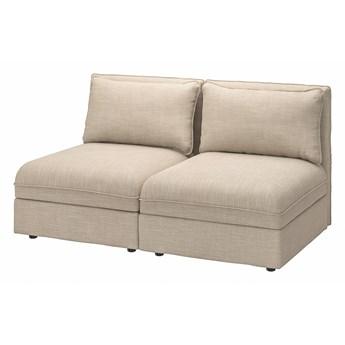 IKEA VALLENTUNA Sofa modułowa, 2-osobowa, z pojemnikiem/Hillared beżowy, Szerokość: 166 cm