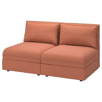 IKEA VALLENTUNA Sofa modułowa, 2-osobowa, z pojemnikiem/Kelinge rdzawy, Szerokość: 166 cm