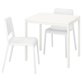 IKEA VANGSTA / TEODORES Stół i 2 krzesła, biały/biały, 80/120 cm